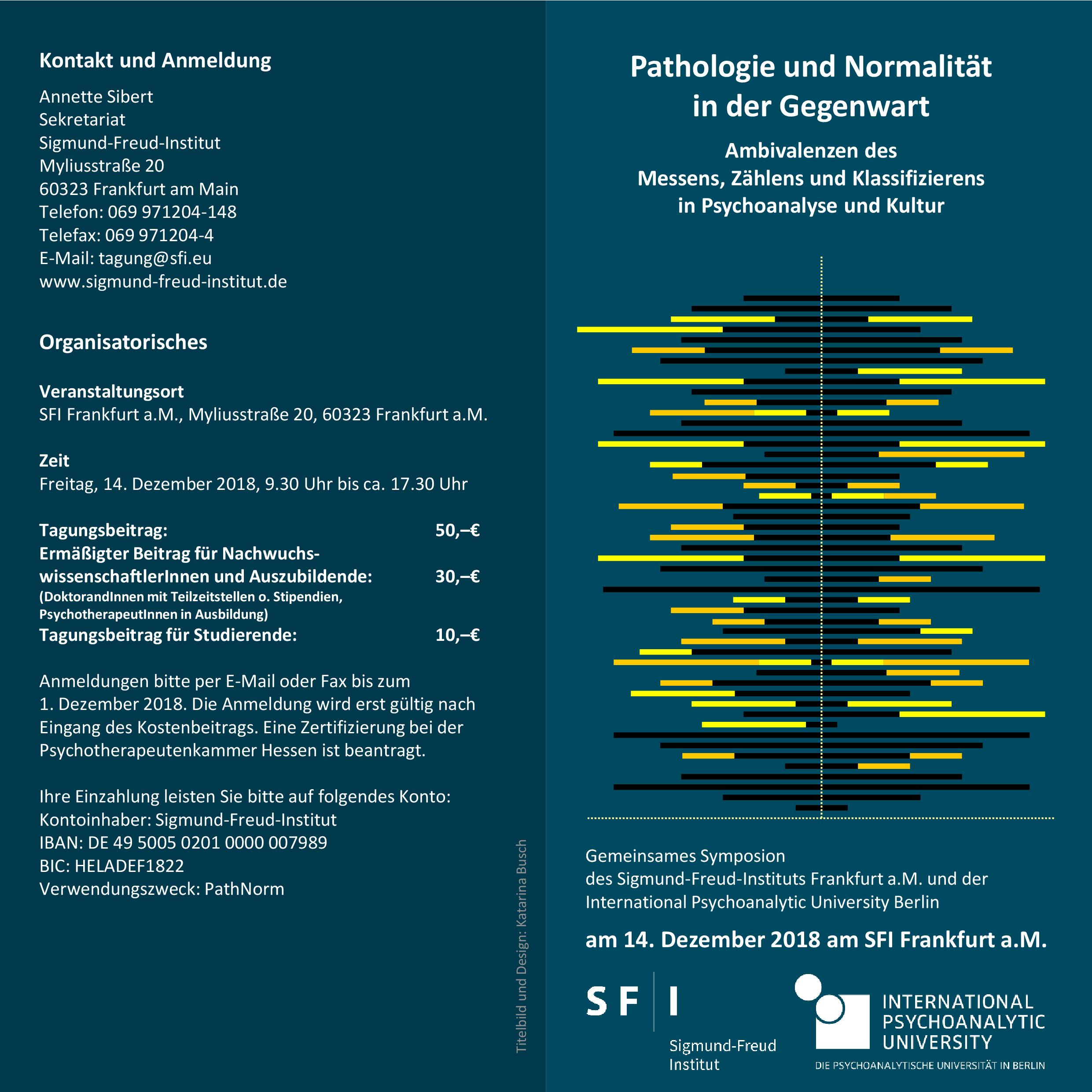 Flyer Pathologie und Normalität 1