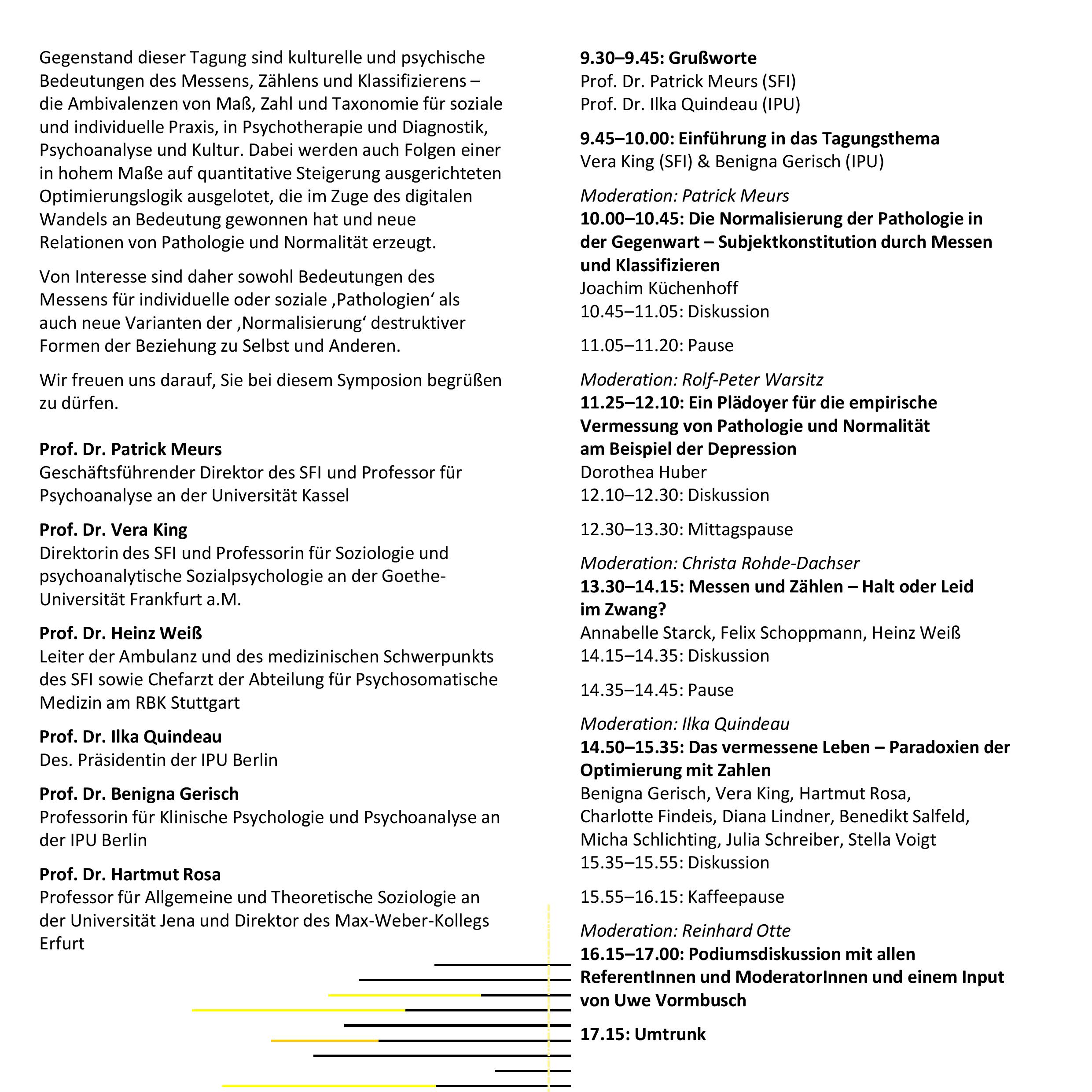 Flyer Pathologie und Normalität 2