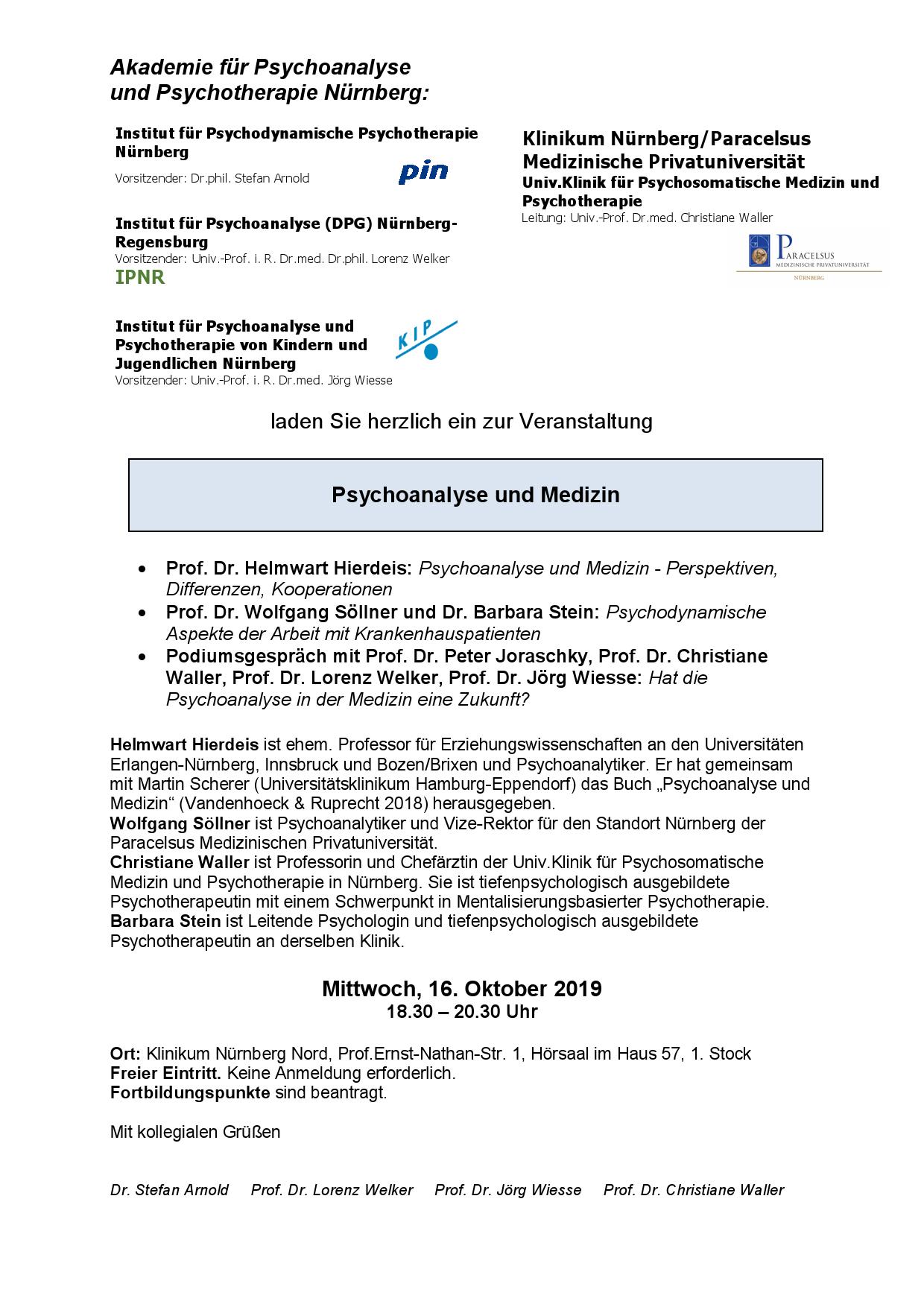 Veranstaltung Psychoanalyse und Medizin0001