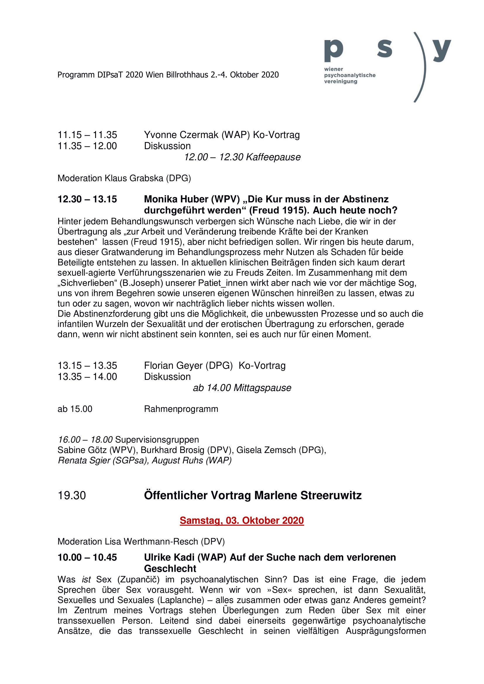 Programm DIPSAT 2020 2