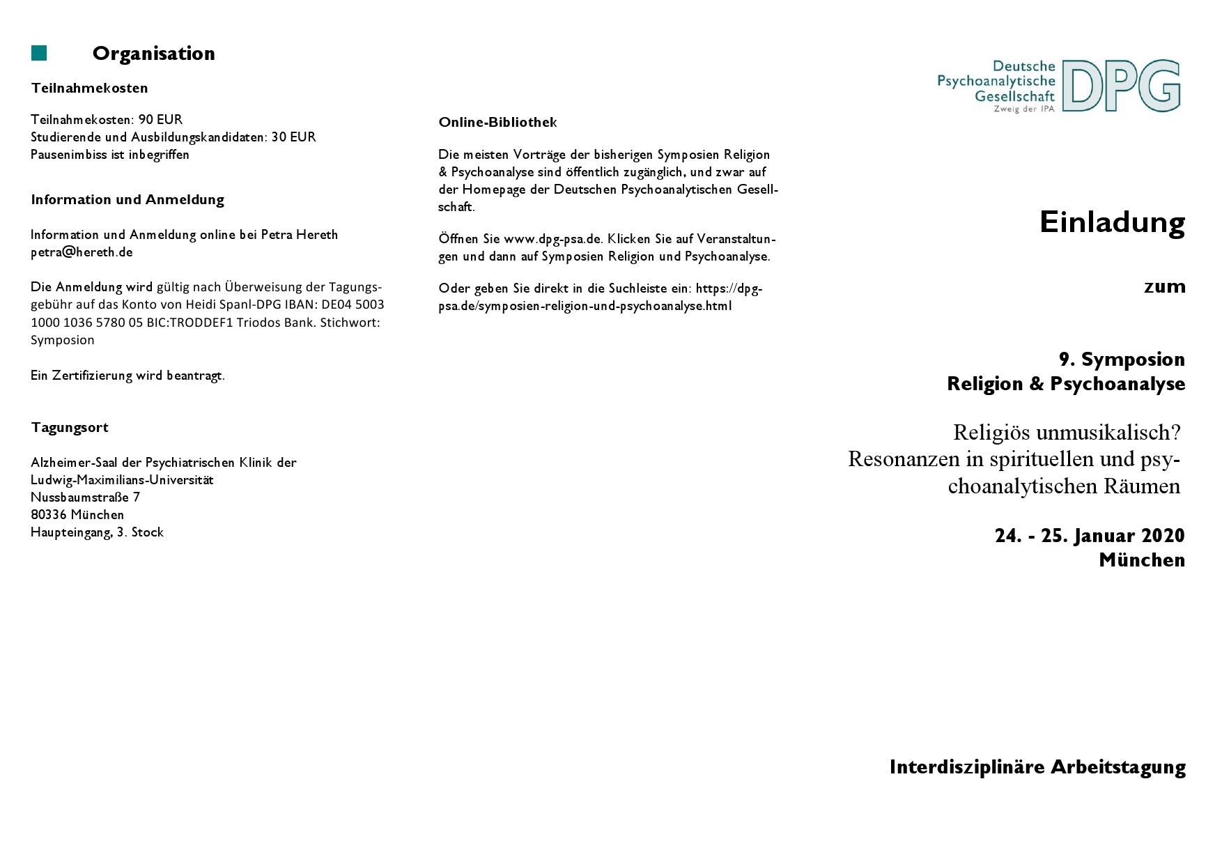 Religion und PSA  Flyer 20200001